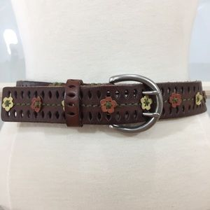Levi's Genuine Leather Floral Belt  M